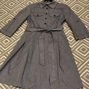 Tory Burch Gingham Blue Shirt Dress, Size 2